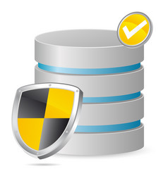 secured server vector image