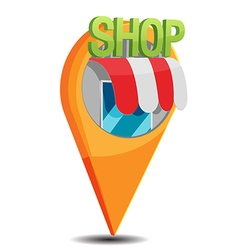 Shop Map Navigator Pin Icon vector image