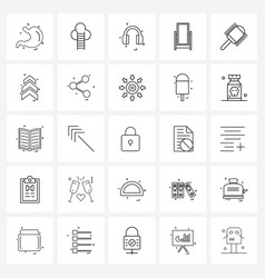 Simple set 25 line icons such as hairs picture vector