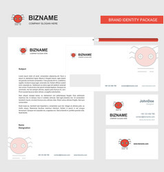 spider business letterhead envelope and visiting vector image