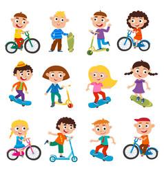 summer childs outdoor activities set vector image