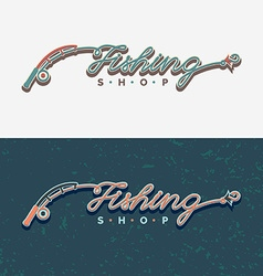 The inscription Fishing original lettering vector image