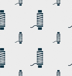 Thread Icon sign Seamless pattern with geometric vector image
