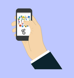Touch screen finger - creative vector
