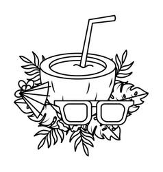 tropical summer cartoon vector image