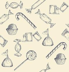 Vintage candy background vector image