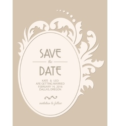 vintage wedding invitation card vector image