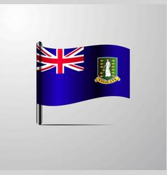 Virgin islands uk waving shiny flag design vector