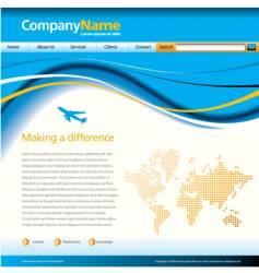 wave web page vector image