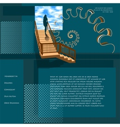 Website template with sucess concept vector
