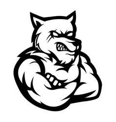Werewolf mascot logo silhouette version wolf logo vector