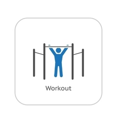 Workout Icon Flat Design vector image