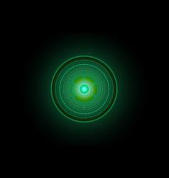 abstract future circle technology green concept vector image