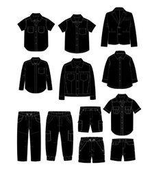 Boys clothes Sketches vector image vector image