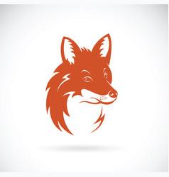 fox head on white background wild animals vector image vector image