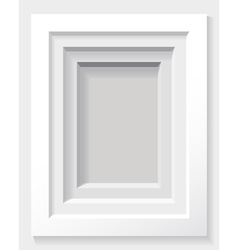 Recess in the white wall as a frame2 vector image