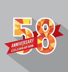 58th years anniversary celebration design vector