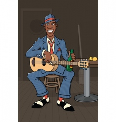 king of the delta blues vector image