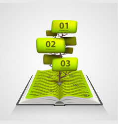 open book with a tree numbering vector image vector image