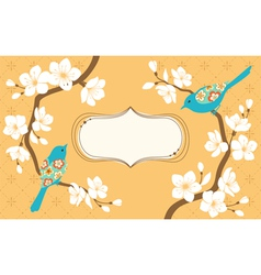 Sakura branches vector image