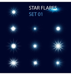 Star flares vector image