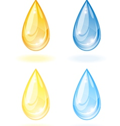 Stylized drop of oil and water vector image