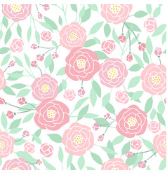 cute small pastel peony flowers on white vector image vector image