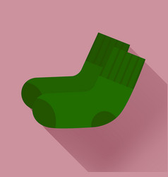 dark green socks on a pale pink background vector image