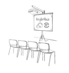 hand drawn business logistic presentation concept vector image vector image