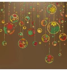 Retro christmas template vector image vector image
