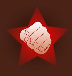 revolution fist star vector image
