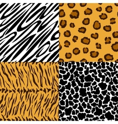 Seamless texture of animal skin vector image vector image