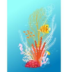 Underwater bouquet vector image vector image