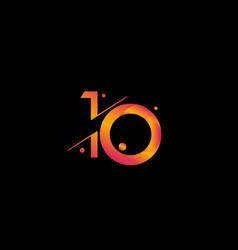10 years anniversary celebration gradient number vector
