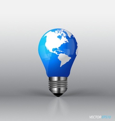 A light bulb with modern globe vector