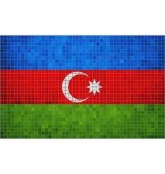 Abstract mosaic flag of azerbaijan vector