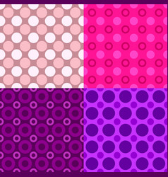 abstract seamless circle pattern design vector image