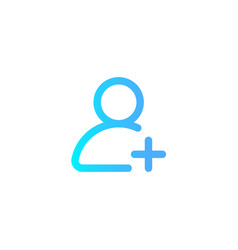 add user icon sign symbol vector image