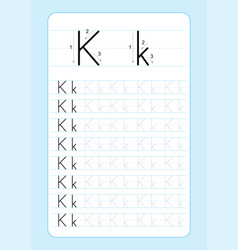 Alphabet letters tracing worksheet with alphabet l vector