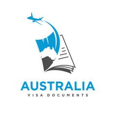 australian travel document logo vector image