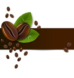 background of coffee beans vector image