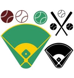 Baseball field vector image