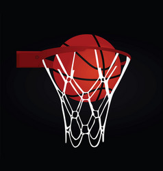 Basketball basket and ball vector