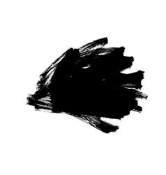 black paint ink brush stroke messy shape vector image