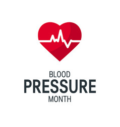 blood pressure month concept in flat style vector image