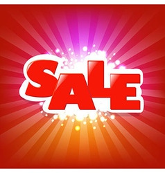 Bright Sale Poster With Blur vector image vector image