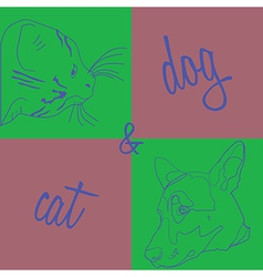 catdog vector image