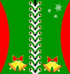 Christmas green lacing vector