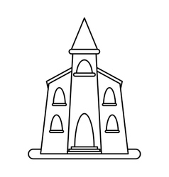 Church building religious christian outline vector