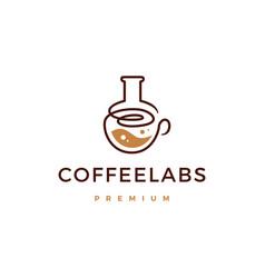 Coffee lab logo icon vector